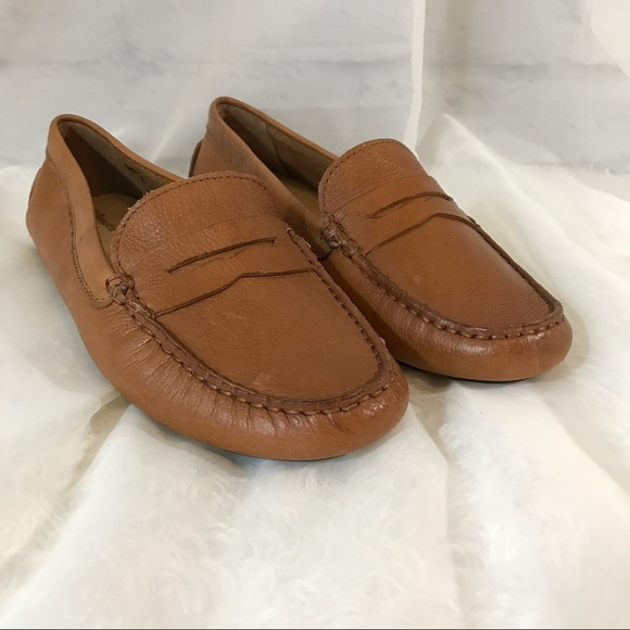 1c4968e0ee6b G.H. Bass Shoes - Bass Tan Leather Driving Moccasins Loafers